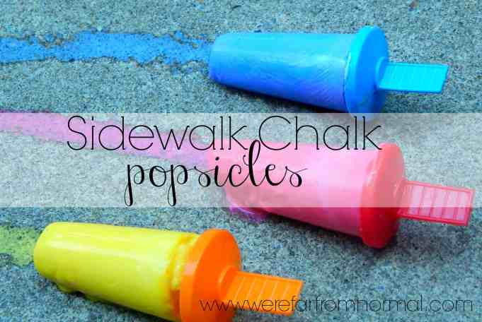 Here's a fun way to get creative this summer! Cool and colorful these sidewalk chalk popsicles are so much fun!