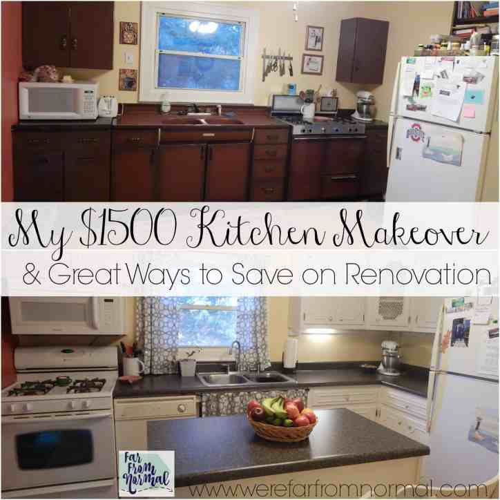 This amazing kitchen makeover was done with only $1500!! Great tips on how to give your kitchen an update without breaking the bank!