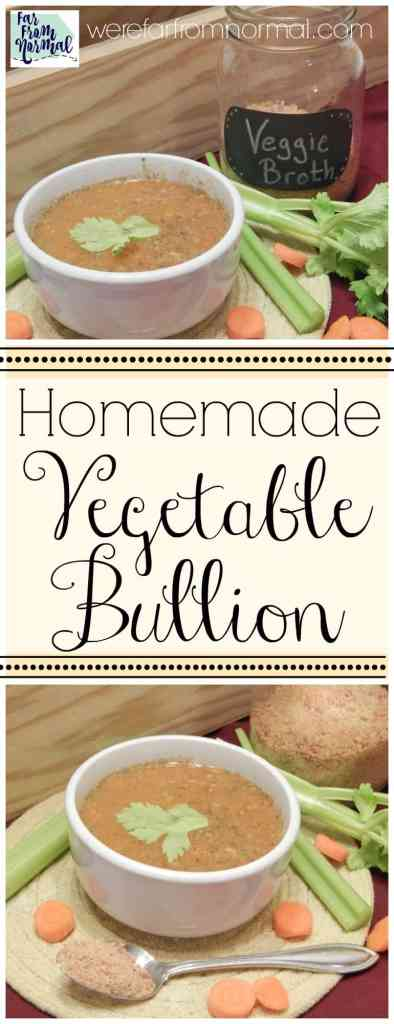 Replace that store bought bullion with this recipe! It's free of all the yucky stuff and just as convinient, just ad a spoonful to water. Perfect for soups & broth!