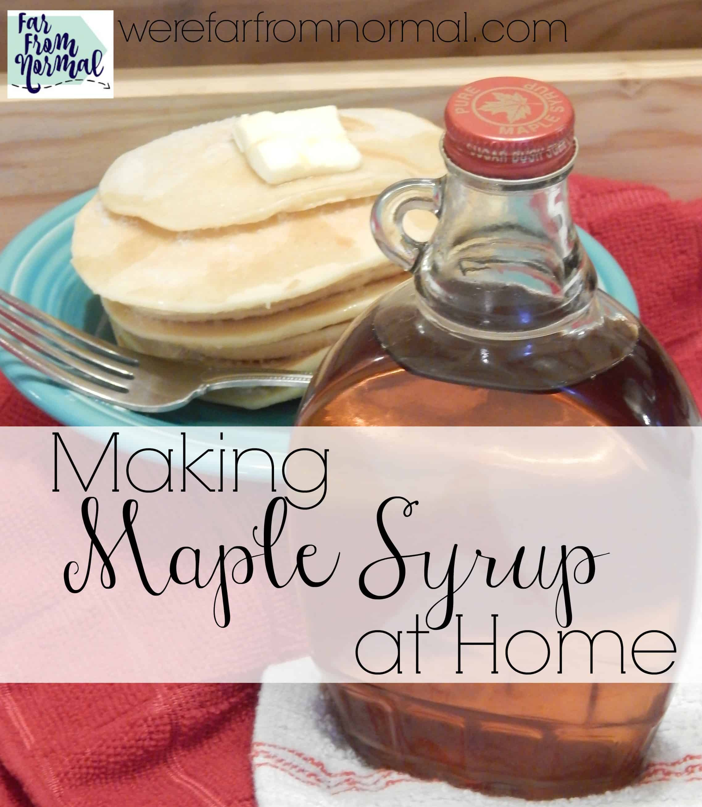 Making Maple Syrup at Home