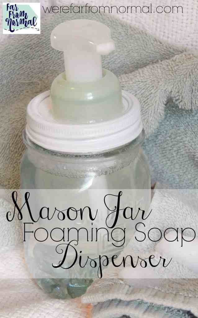 My kids love foaming soap but I hate the ugly plastic dispenser! So glad to have found this, Mason Jars are so much cuter! And the foaming pump helps your soap last longer!