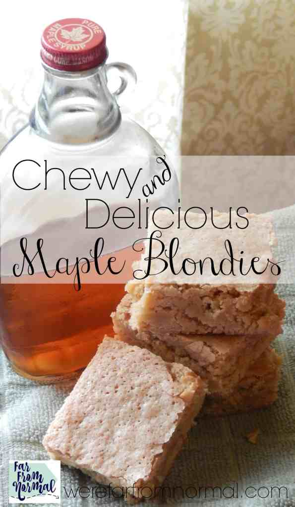 Maple Blondies {Soft Chewy and Delicious!}