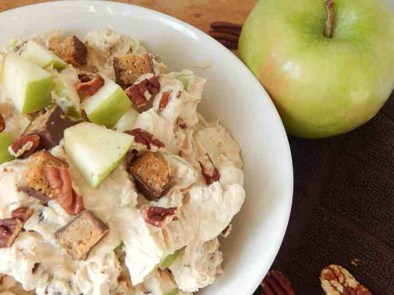 Chocolate Peanut Butter Apple Salad Made with ZonePerfect bars