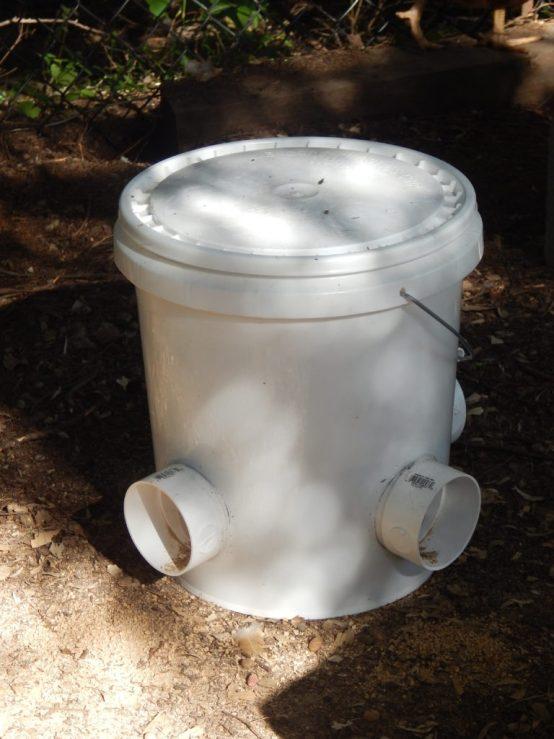 bucket Chicken feeder 5 gallon bucket and pvc pipe