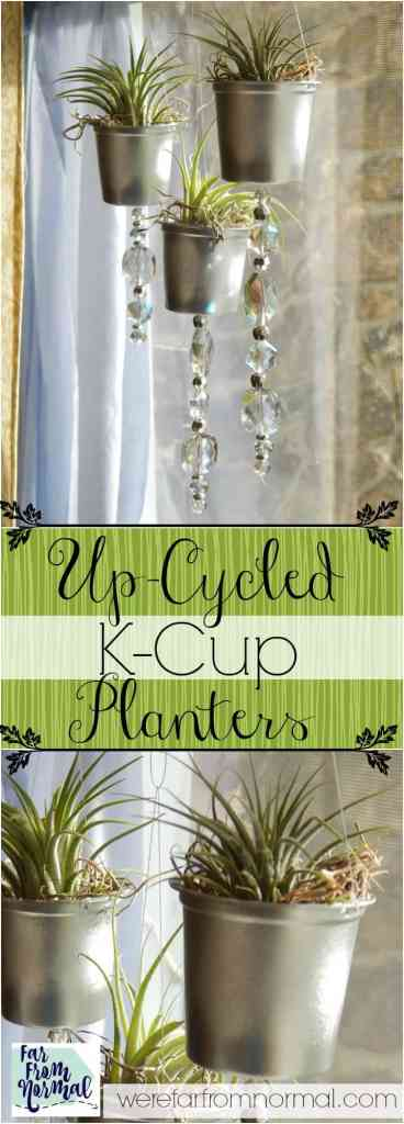 Give your k-cups a makeover into these adorable planters! They're super easy to make & an awesome upcycle!