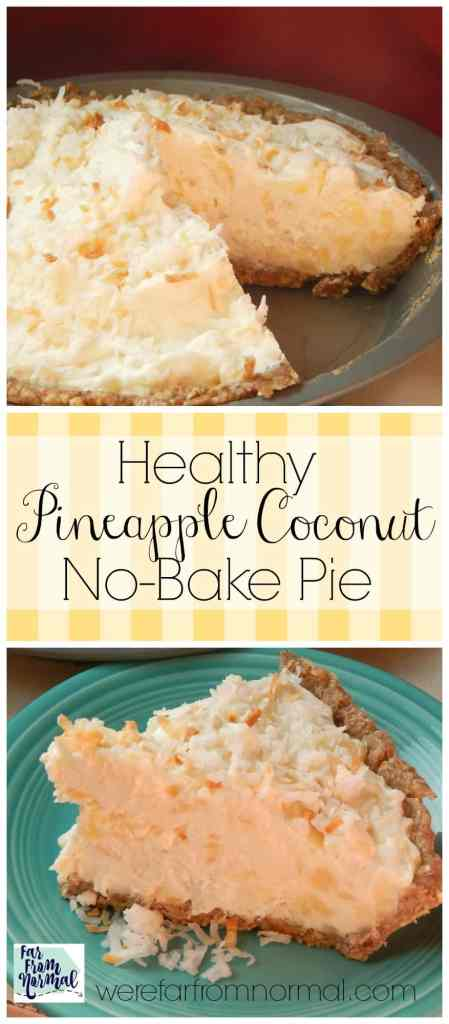 This is totally delicious & the perfect summer pie!! Made with Greek yogurt and sweetened with honey it's actually good for you!!