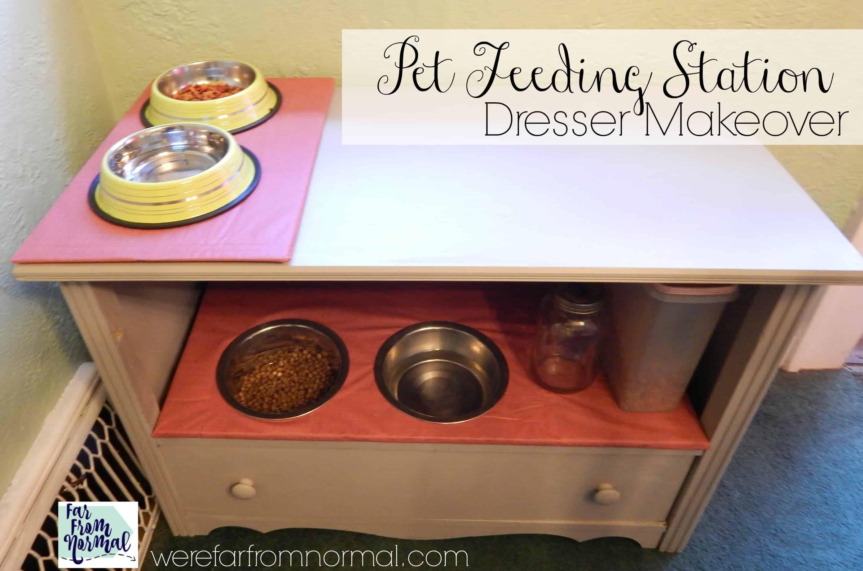 DIY Pet Feeding Station (Dresser Makeover)