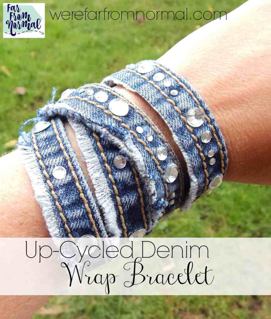 Up-Cycled Denim Wrap Bracelet