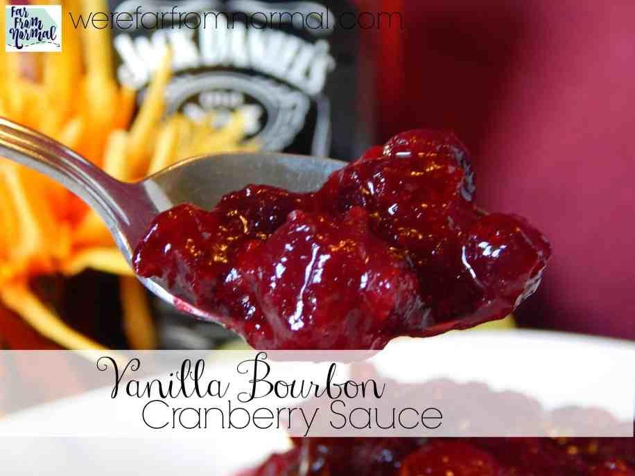 vanilla bourbon cranberry sauce