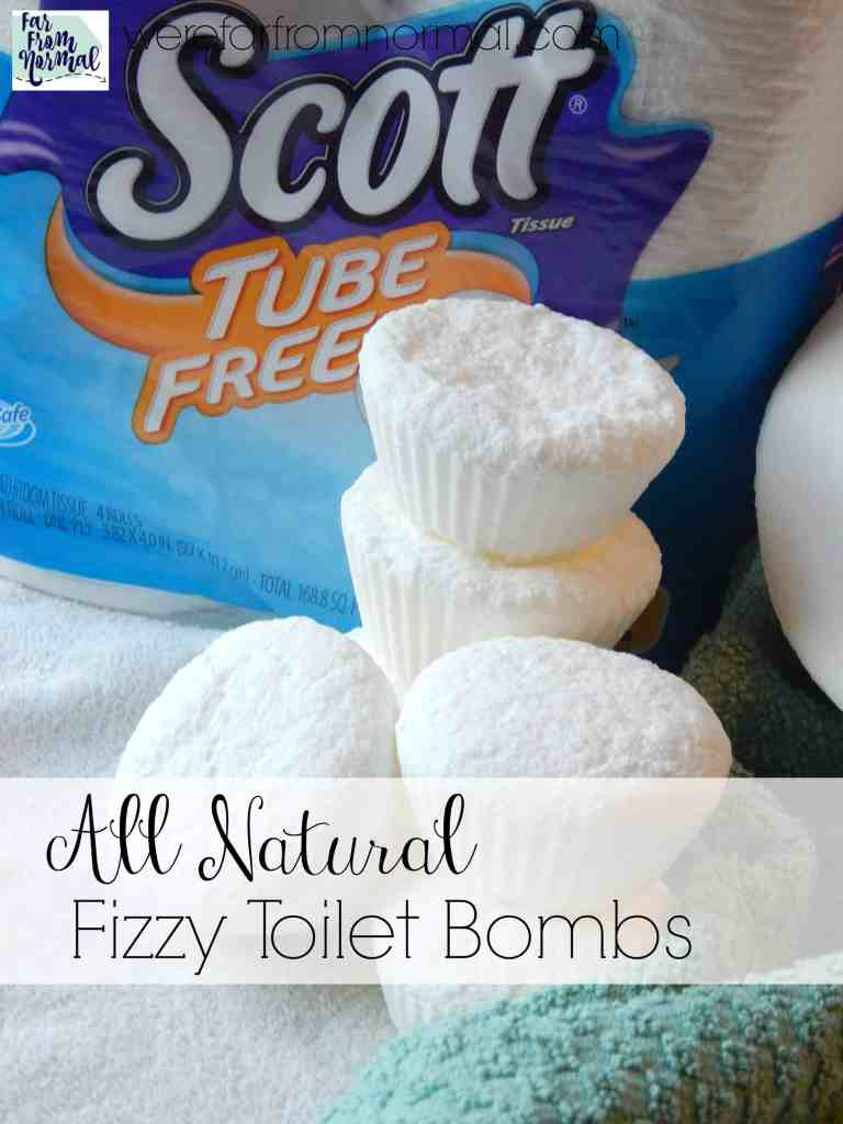 Easy All Natural Fizzy Toilet Cleaning Bombs