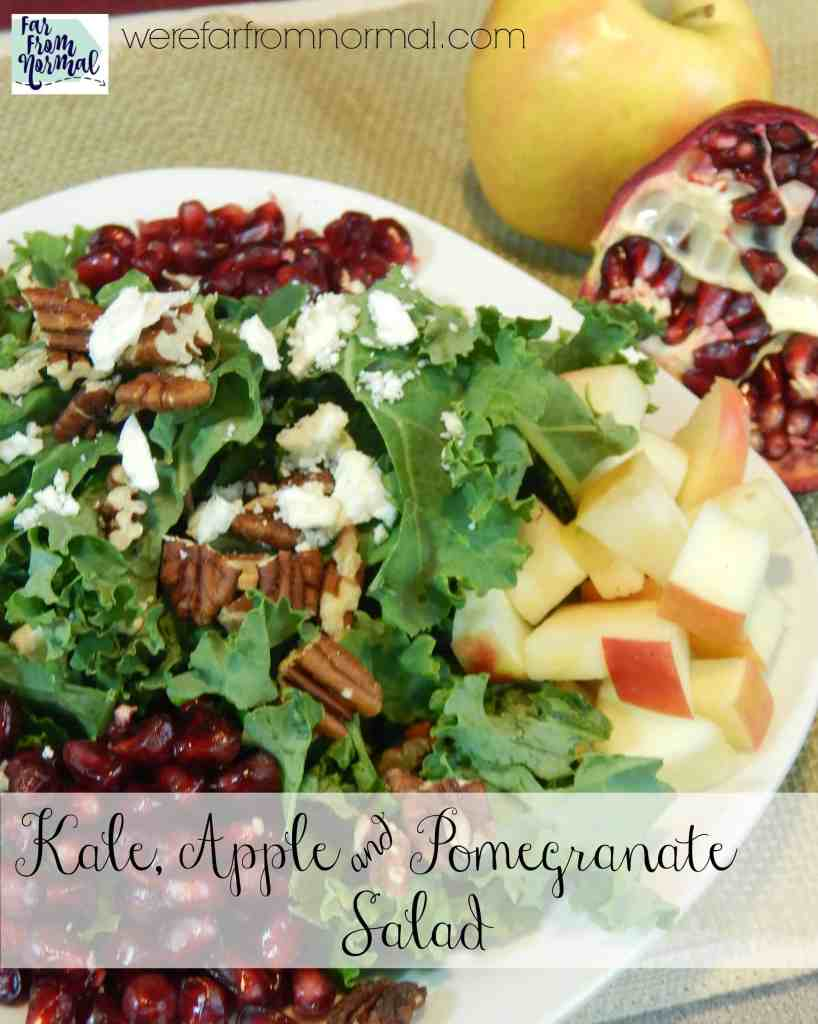 Delicious Kale Salad With Apples and Pomegranate