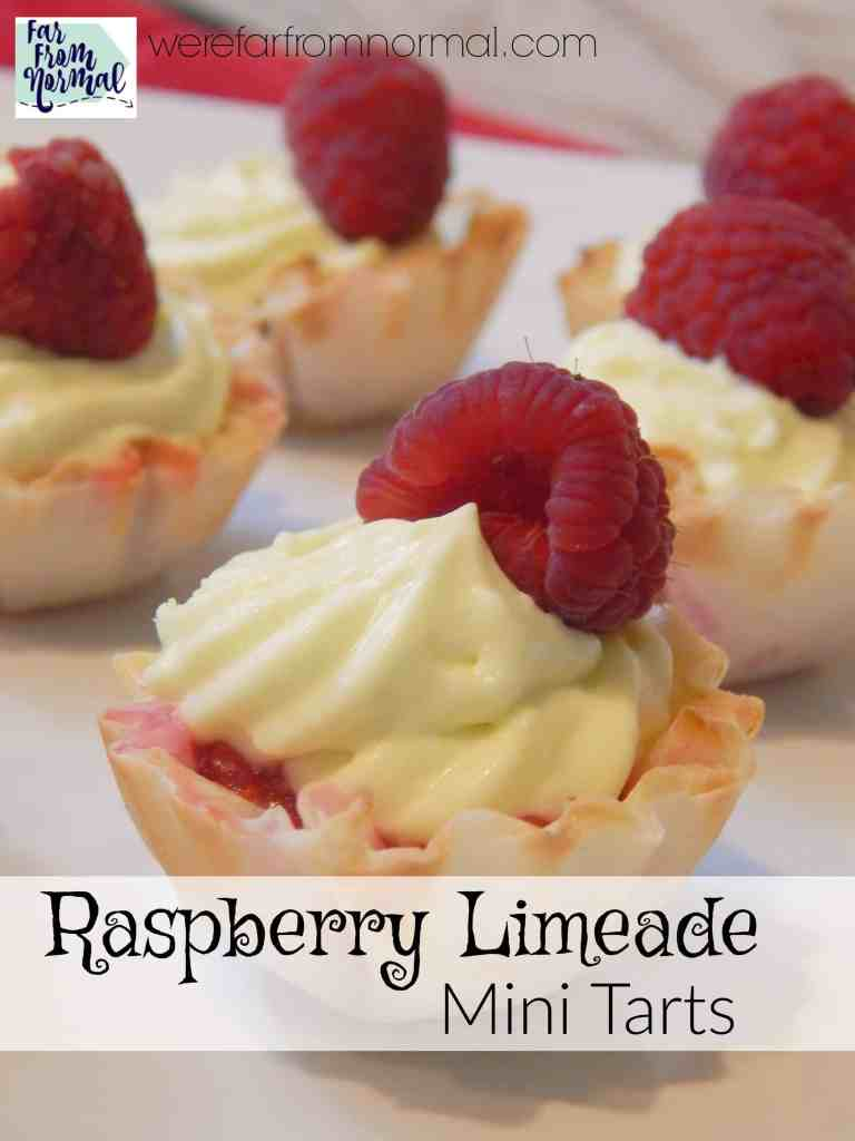 Delicious No-Bake Raspberry Limeade Mini Tarts