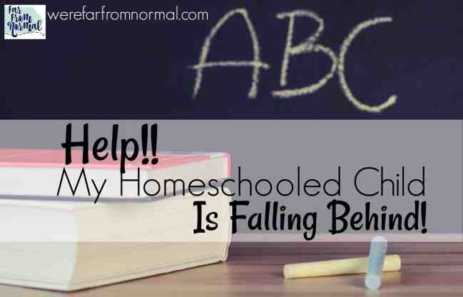 homeschooled child is falling behind