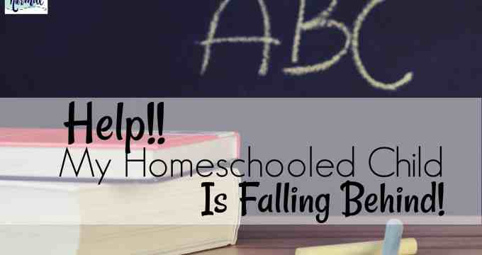 Help! My Homeschooled Child is Falling Behind!