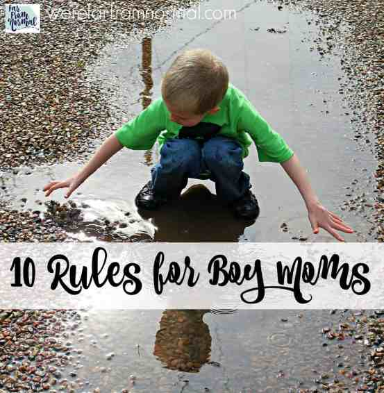 rules for boy moms