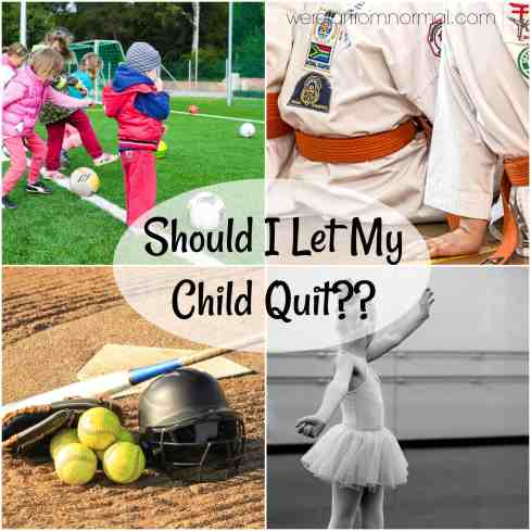 should I let my child quit