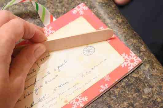 how to make a recipe card Christmas Ornament