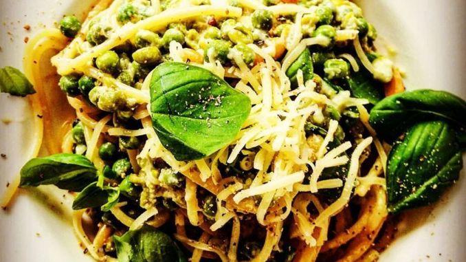 Veggie pasta non carbonara