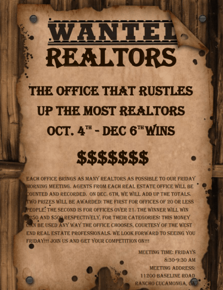 WEREP Realtor Contest Flyer 2013