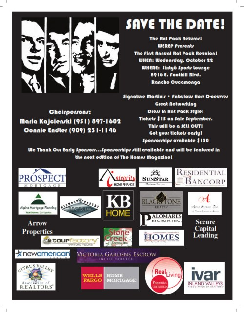 Save the Date - Rat Pack Returns