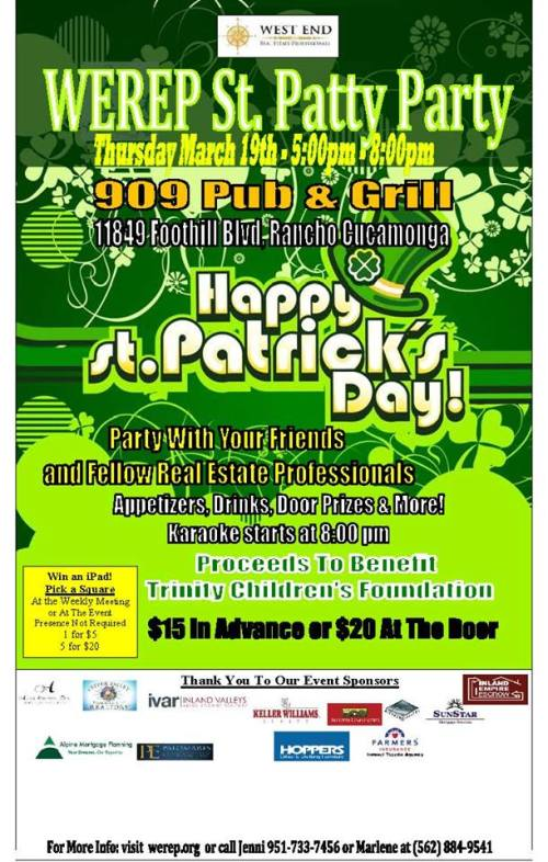 WEREP St Patricks Day Party 2015