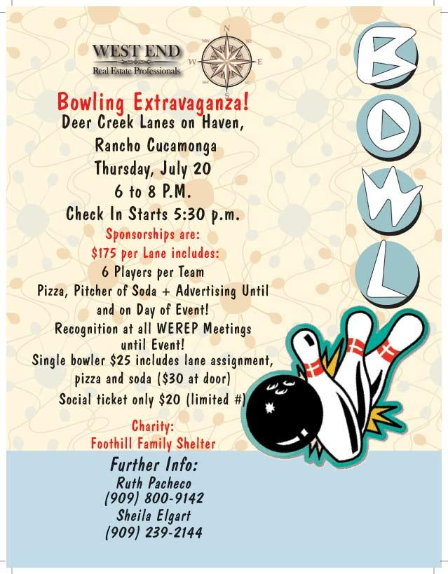 WEREP Bowling Extravaganza! | July 20, 2017