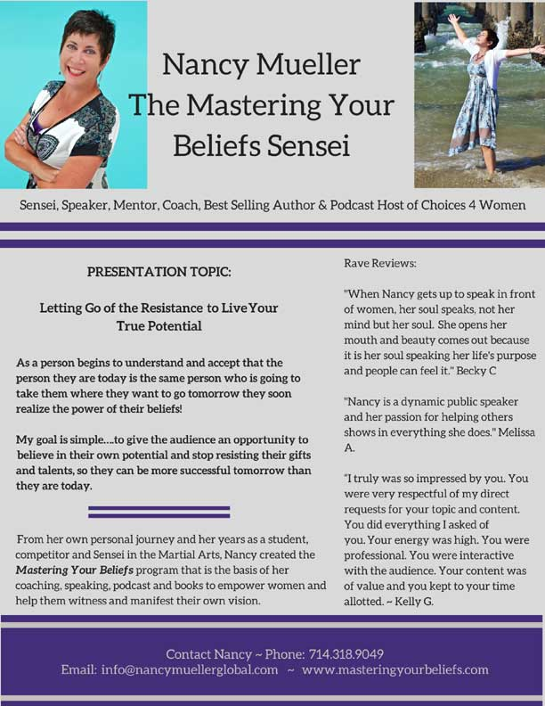 Nancy Mueller – The Mastering Your Beliefs Sensei | 8/11/17