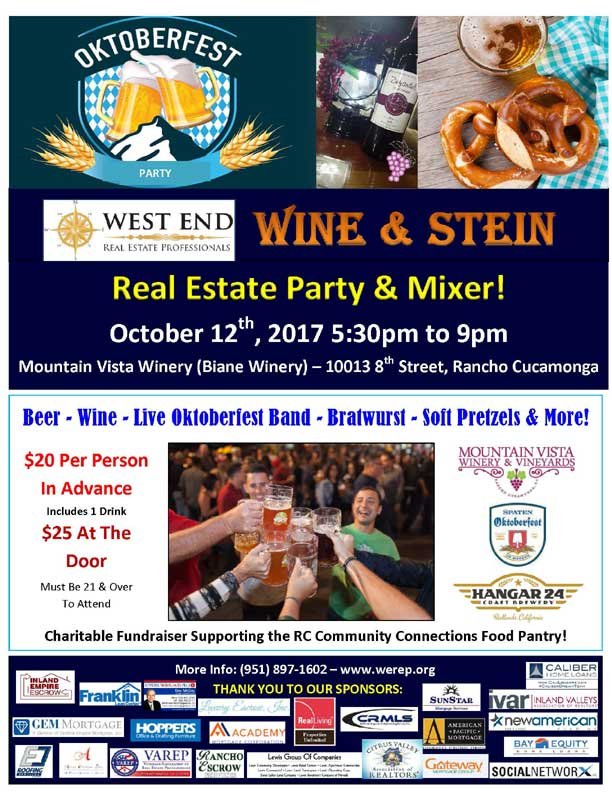 Oktoberfest Wine & Stein Real Estate Party and Mixer | October 12, 2017