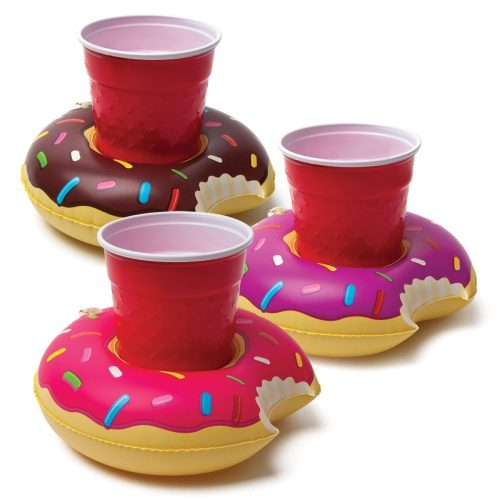 donut drink floats