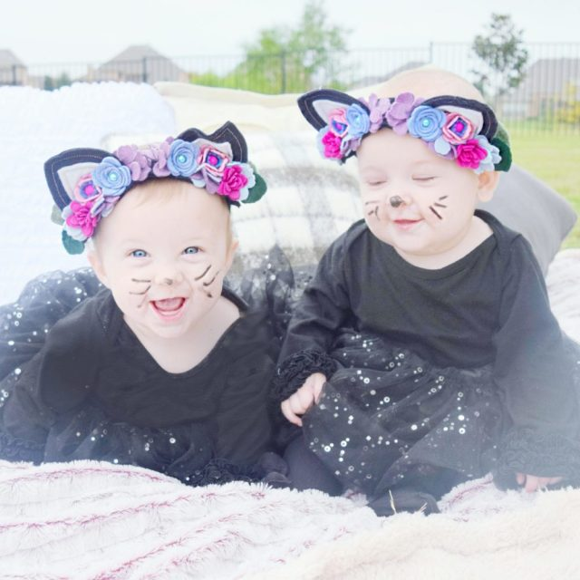 Halloween 2016 Pictures Star Wars Storm Trooper Kitty Cats Kitty Ears Felt Floral Headband