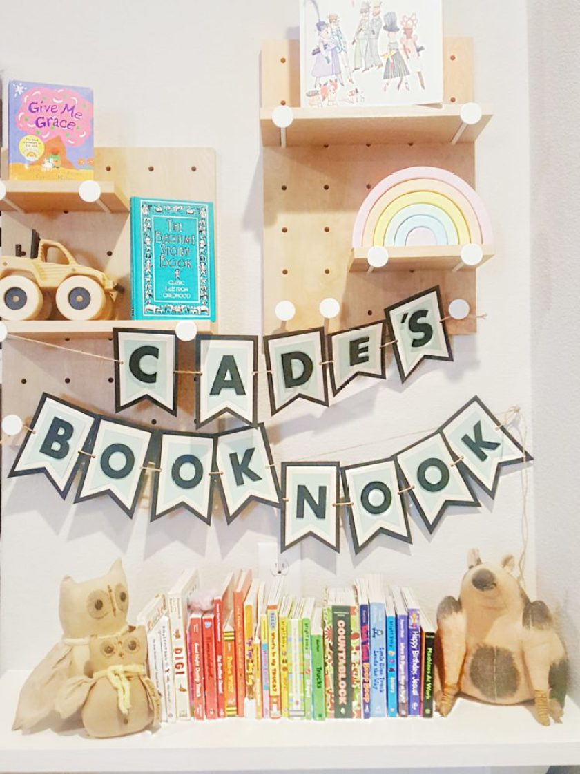 Book Nook Peg Boards Rainbow Blocks