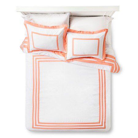 Hotel Textured Coral Comforter Set
