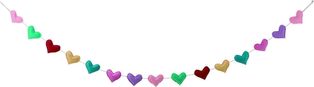 Felt Heart Garland Valentine's Day Birthday Party Girly