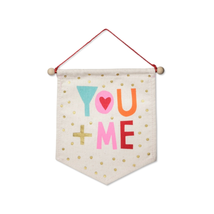 Valentine's Day You + Me Banner Small