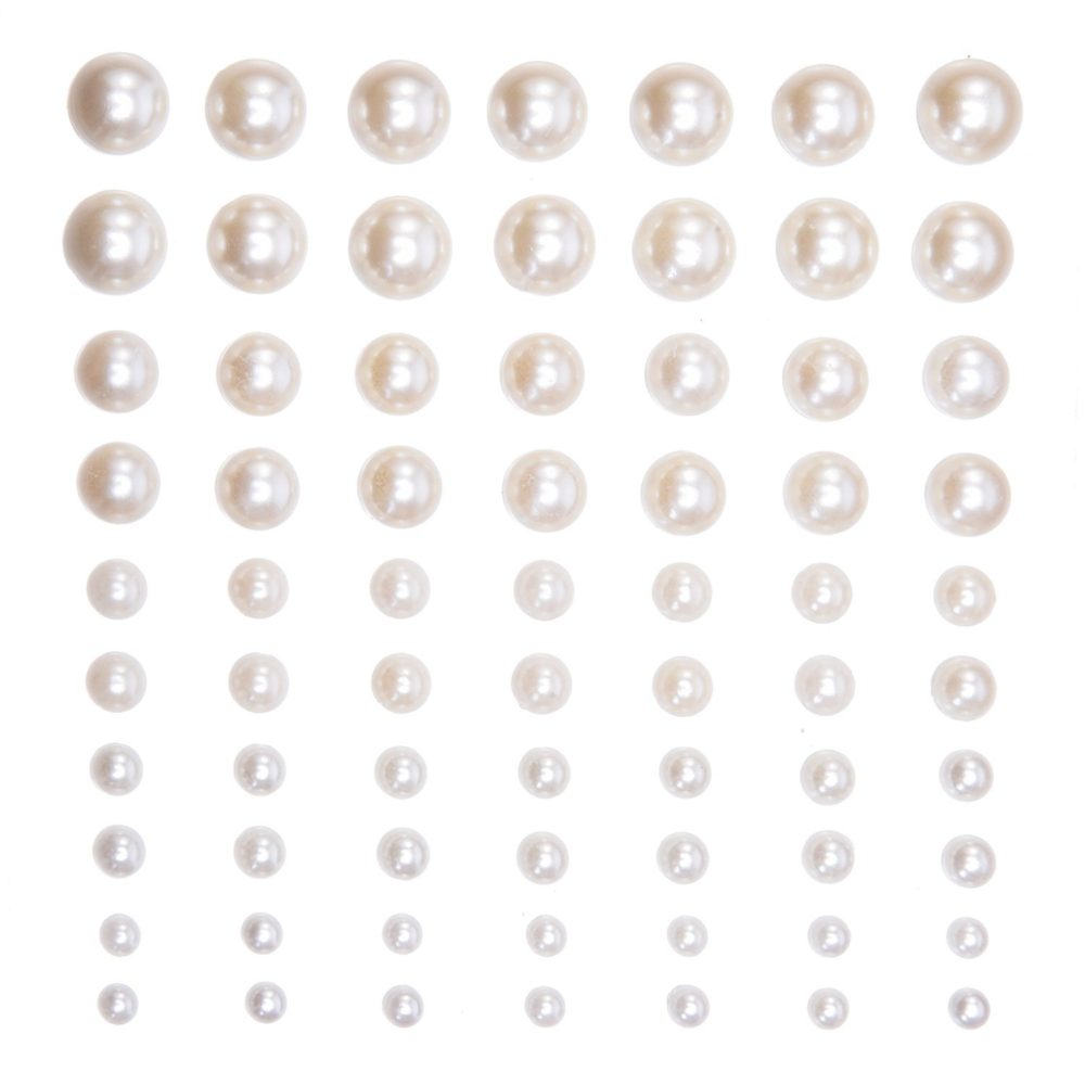Self-adhesive Back Pearl Sticker Sheets Assorted Size