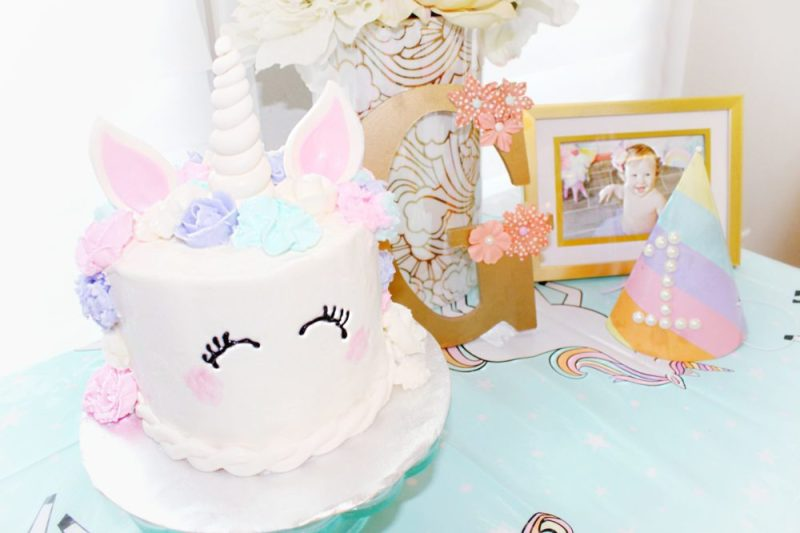 Unicorn 1st Birthday Party Decorations First Cake Coolest Ideas Easy