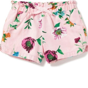 Printed Linen-Blend Shorts for Toddler Girls