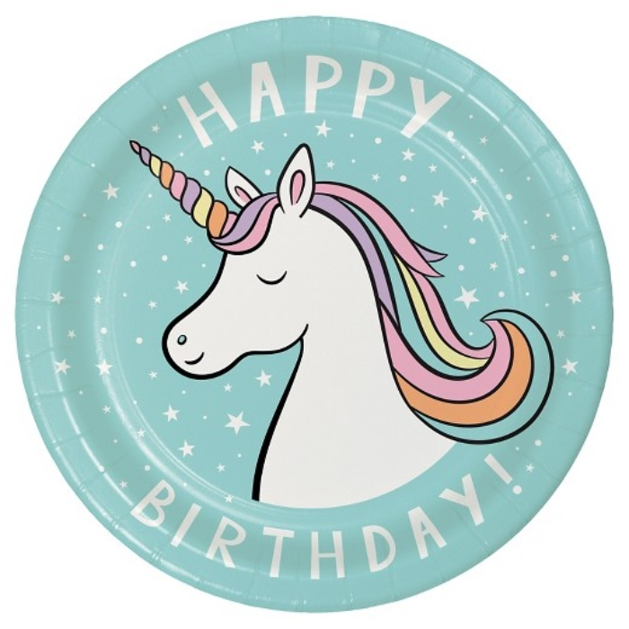 Unicorn Birthday Plates Spritz