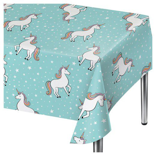 Unicorn Blue Disposable Table Cover Spritz™
