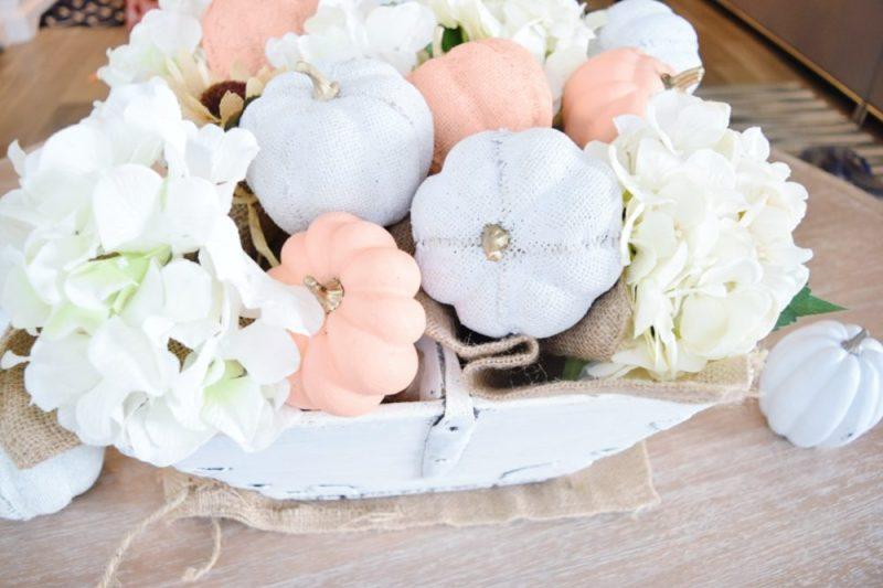 DIY how to simple fall centerpiece