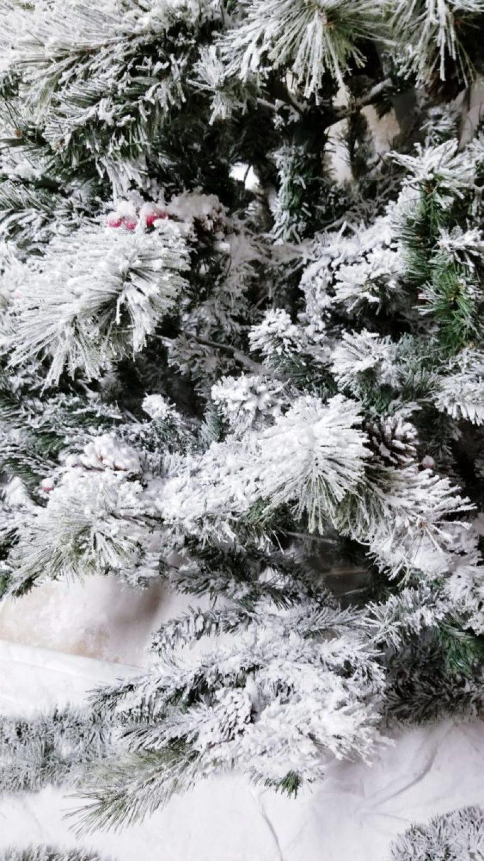 DIY flocked Christmas tree instructions