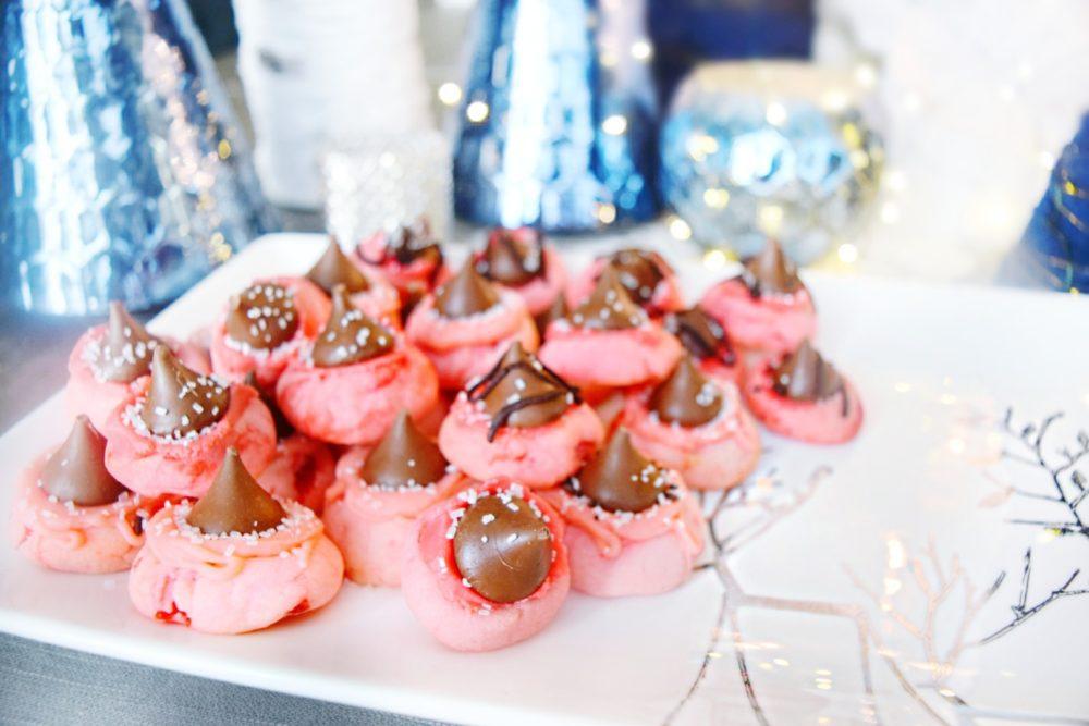 Cherry Kiss Thumbprint Cookies