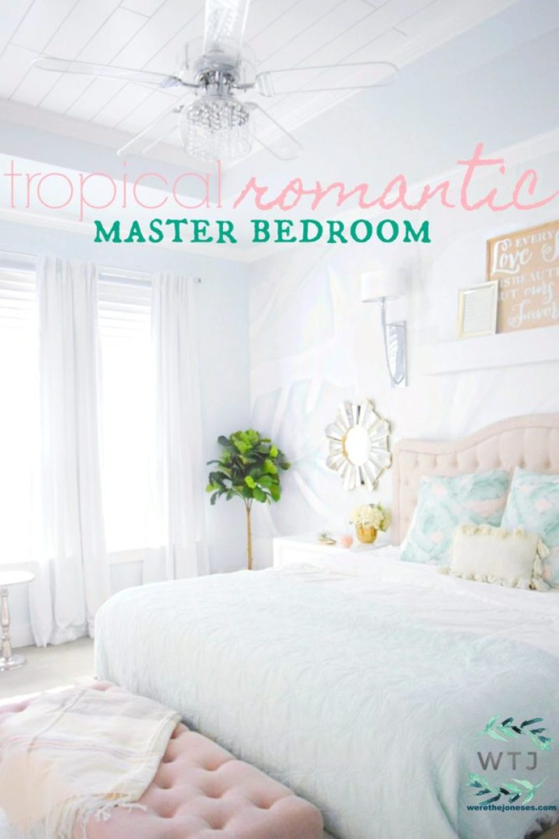 beautiful tropical nuance bedroom | A Beautiful Tropical Romantic Master Bedroom Makeover » We ...