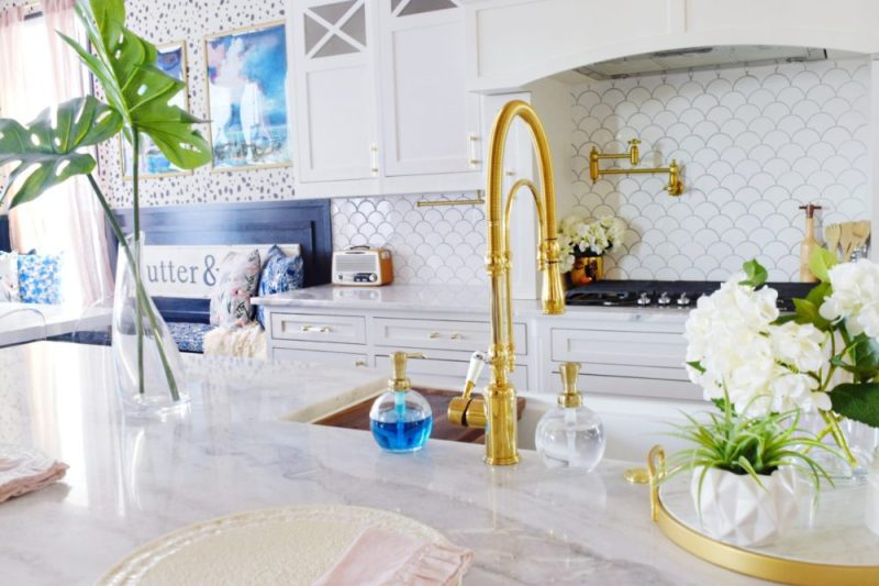 THE REVEAL: Modern Coastal Glam Kitchen Makeover » We\'re The ...