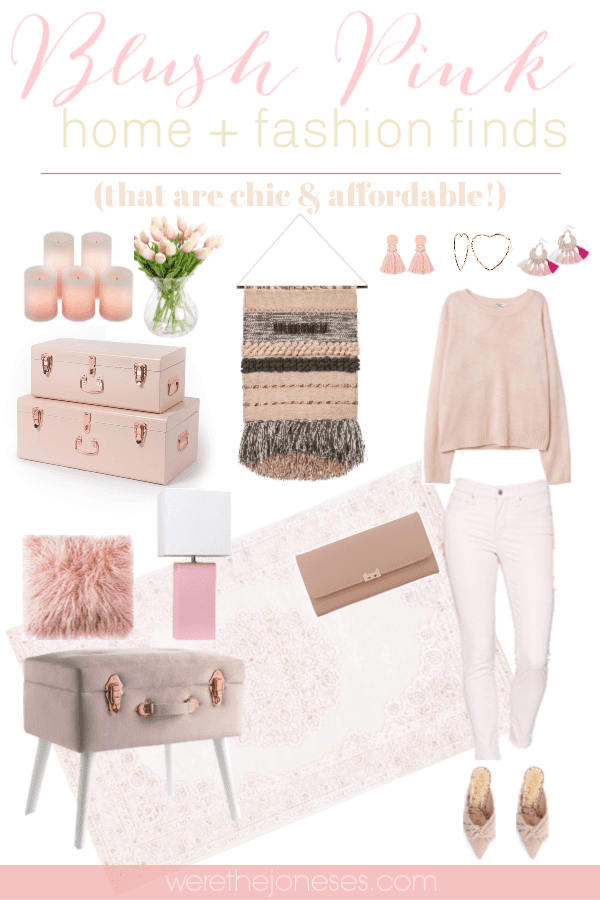 Chic And Affordable Blush Pink Home Decor Fashion Finds We Re