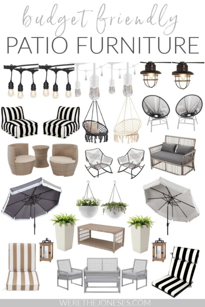 budget friendly patio furniture ideas