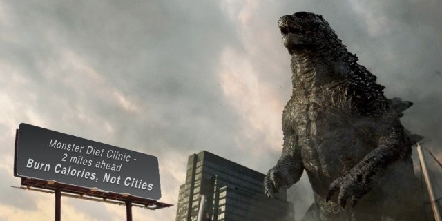WereWatchers - News - Godzilla vs.Werewolf - Godzilla is a fatty