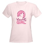 Pink Werewolf Girl Shirt