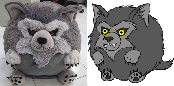 Squishable werewolf prototype
