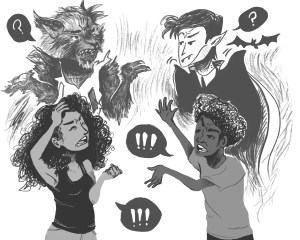 Werewolves vs Vampires by Lauren Campbell